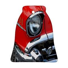 Classic Car Red Automobiles Bell Ornament (Two Sides)