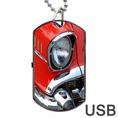 Classic Car Red Automobiles Dog Tag USB Flash (Two Sides)