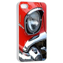 Classic Car Red Automobiles Apple iPhone 4/4s Seamless Case (White)