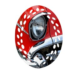 Classic Car Red Automobiles Oval Filigree Ornament (two Sides)