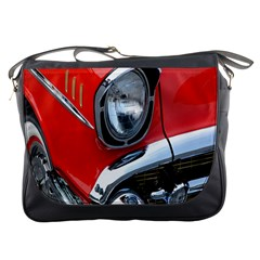 Classic Car Red Automobiles Messenger Bags