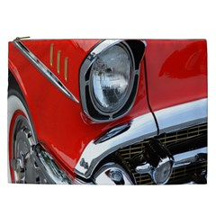 Classic Car Red Automobiles Cosmetic Bag (xxl)