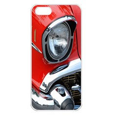 Classic Car Red Automobiles Apple Iphone 5 Seamless Case (white)