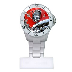 Classic Car Red Automobiles Plastic Nurses Watch