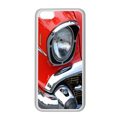 Classic Car Red Automobiles Apple Iphone 5c Seamless Case (white)
