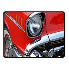 Classic Car Red Automobiles Double Sided Fleece Blanket (small)