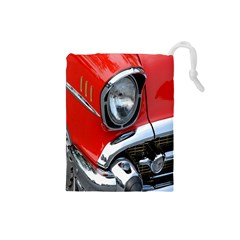 Classic Car Red Automobiles Drawstring Pouches (Small)