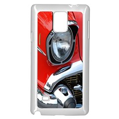 Classic Car Red Automobiles Samsung Galaxy Note 4 Case (White)