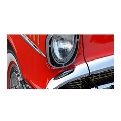 Classic Car Red Automobiles Satin Wrap