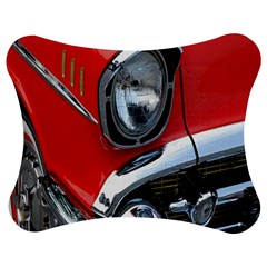 Classic Car Red Automobiles Jigsaw Puzzle Photo Stand (Bow)