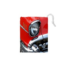 Classic Car Red Automobiles Drawstring Pouches (XS)