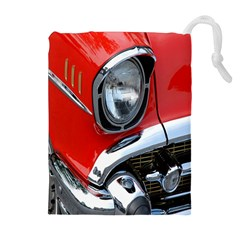 Classic Car Red Automobiles Drawstring Pouches (Extra Large)