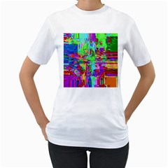 Compression Pattern Generator Women s T Shirt (white) (two Sided)