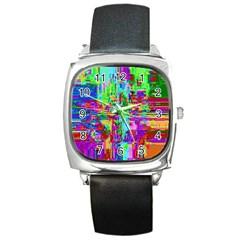 Compression Pattern Generator Square Metal Watch