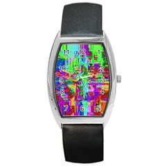 Compression Pattern Generator Barrel Style Metal Watch