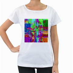 Compression Pattern Generator Women s Loose-Fit T-Shirt (White)