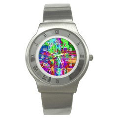 Compression Pattern Generator Stainless Steel Watch