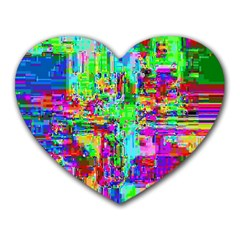 Compression Pattern Generator Heart Mousepads