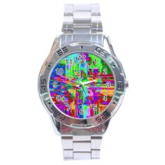 Compression Pattern Generator Stainless Steel Analogue Watch