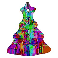 Compression Pattern Generator Christmas Tree Ornament (Two Sides)