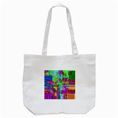 Compression Pattern Generator Tote Bag (White)