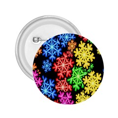 Colourful Snowflake Wallpaper Pattern 2.25  Buttons