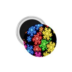 Colourful Snowflake Wallpaper Pattern 1 75  Magnets