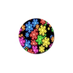 Colourful Snowflake Wallpaper Pattern Golf Ball Marker (4 pack)