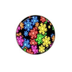 Colourful Snowflake Wallpaper Pattern Hat Clip Ball Marker (4 pack)