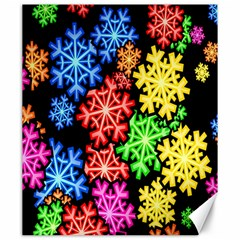 Colourful Snowflake Wallpaper Pattern Canvas 20  X 24