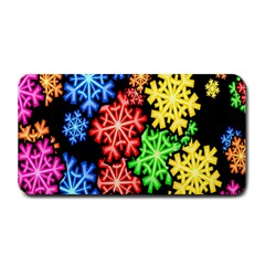 Colourful Snowflake Wallpaper Pattern Medium Bar Mats