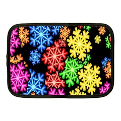Colourful Snowflake Wallpaper Pattern Netbook Case (Medium)