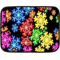 Colourful Snowflake Wallpaper Pattern Fleece Blanket (Mini)