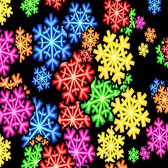 Colourful Snowflake Wallpaper Pattern Magic Photo Cubes