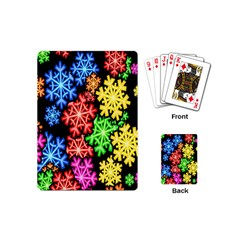 Colourful Snowflake Wallpaper Pattern Playing Cards (Mini)