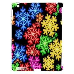Colourful Snowflake Wallpaper Pattern Apple Ipad 3/4 Hardshell Case (compatible With Smart Cover)