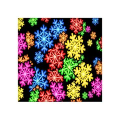 Colourful Snowflake Wallpaper Pattern Acrylic Tangram Puzzle (4  X 4 )