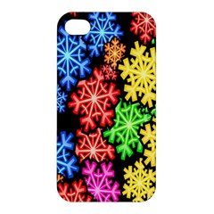 Colourful Snowflake Wallpaper Pattern Apple iPhone 4/4S Premium Hardshell Case