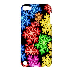 Colourful Snowflake Wallpaper Pattern Apple iPod Touch 5 Hardshell Case