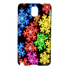 Colourful Snowflake Wallpaper Pattern Samsung Galaxy Note 3 N9005 Hardshell Case