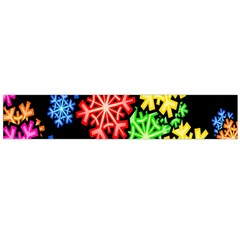 Colourful Snowflake Wallpaper Pattern Flano Scarf (Large)