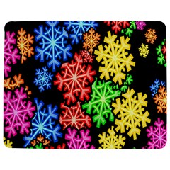 Colourful Snowflake Wallpaper Pattern Jigsaw Puzzle Photo Stand (Rectangular)