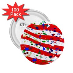 Confetti Star Parade Usa Lines 2 25  Buttons (100 Pack)