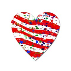 Confetti Star Parade Usa Lines Heart Magnet