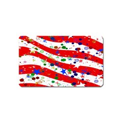Confetti Star Parade Usa Lines Magnet (Name Card)
