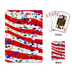 Confetti Star Parade Usa Lines Playing Card