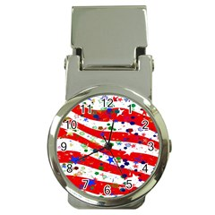 Confetti Star Parade Usa Lines Money Clip Watches