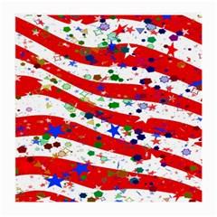 Confetti Star Parade Usa Lines Medium Glasses Cloth