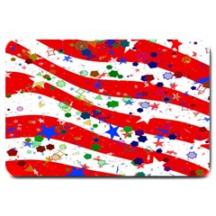 Confetti Star Parade Usa Lines Large Doormat
