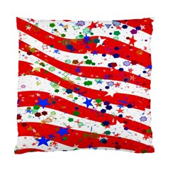 Confetti Star Parade Usa Lines Standard Cushion Case (One Side)